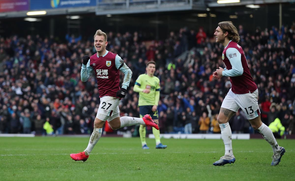 Burnley beat Bournemouth 3-0 amidst VAR farce