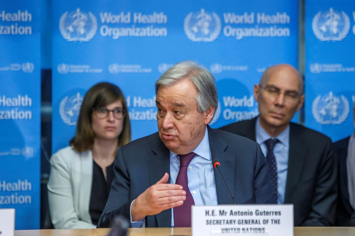 World must avert 'dramatic' effects of coronavirus on health, economy: U.N.'s Guterres