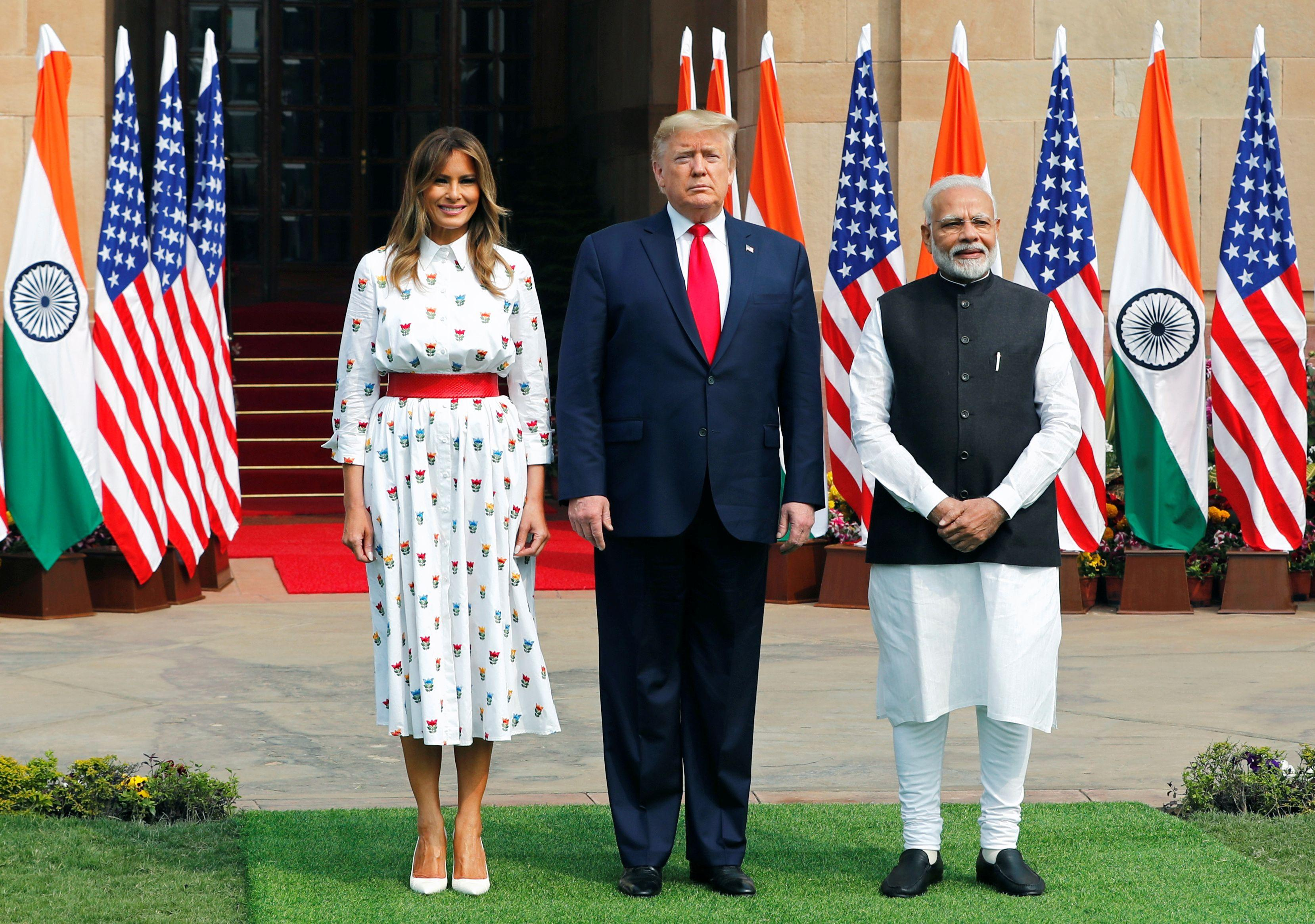 After huge welcome in India, Trump clinches $3 billion military equipment sale