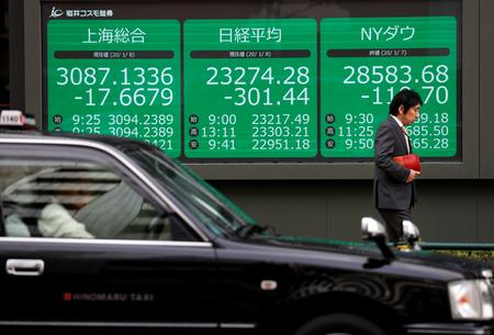 GLOBAL MARKETS-Asian stocks, Treasury yields fall as pandemic fears intensify