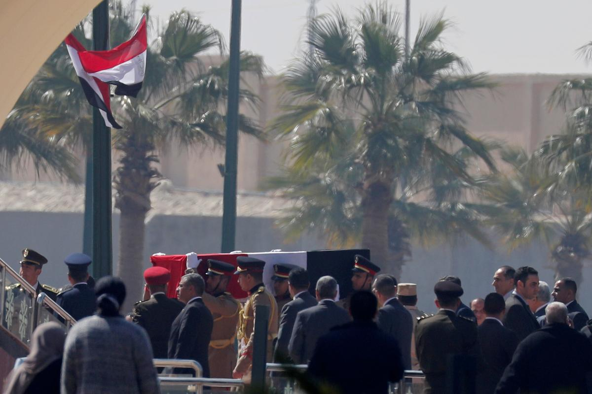 Pomp, praise and a divided legacy as Egypt buries Mubarak