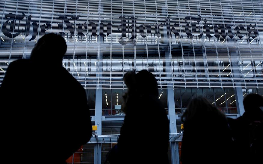 Trump campaign says it is suing New York Times over Russia opinion piece