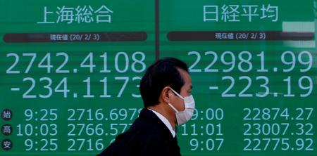 Virus-hit stocks shed $3 trillion; safe havens thrive