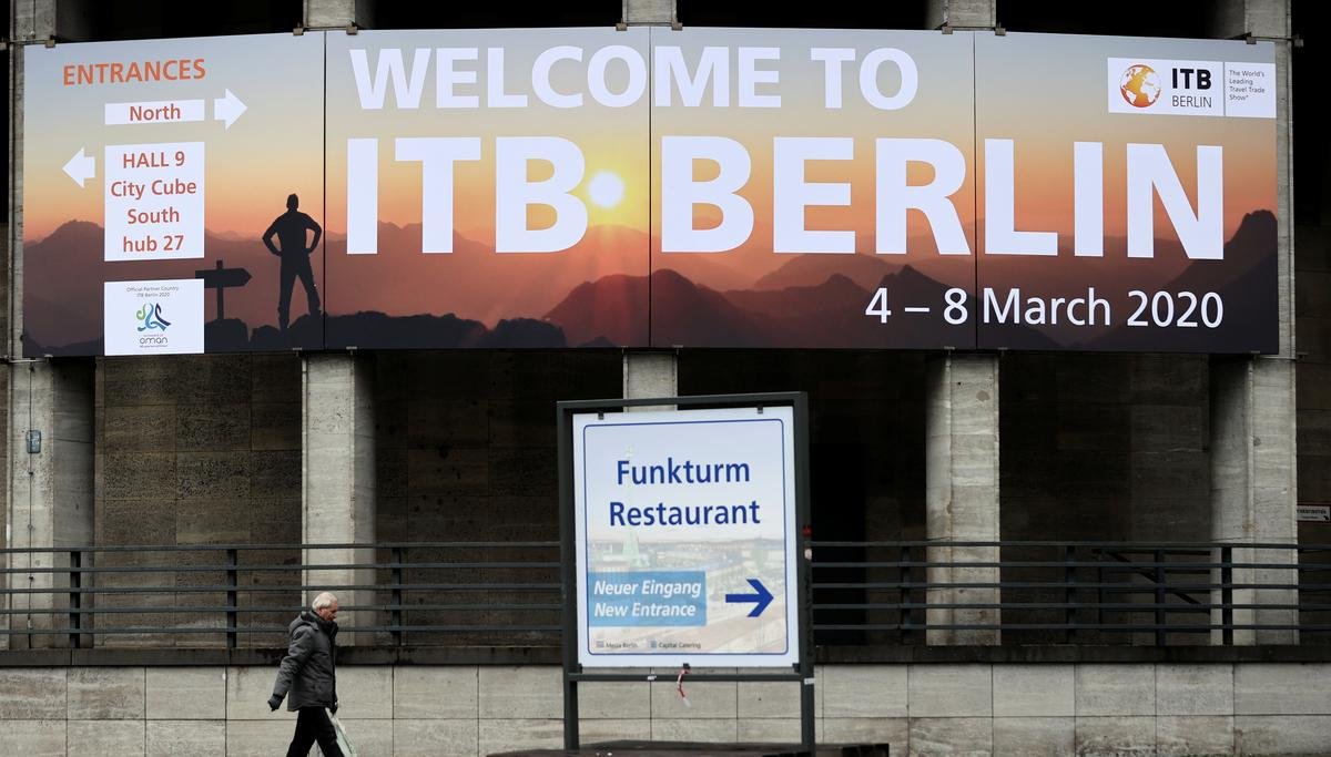 German newspaper cites Health Ministry as saying ITB travel fair should be canceled
