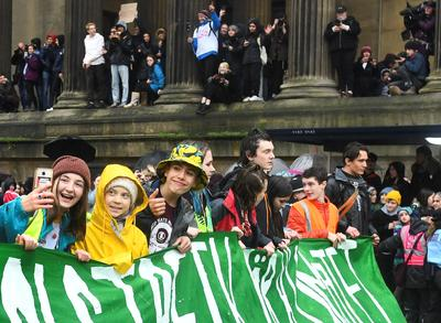 Greta Thunberg leads UK climate rally