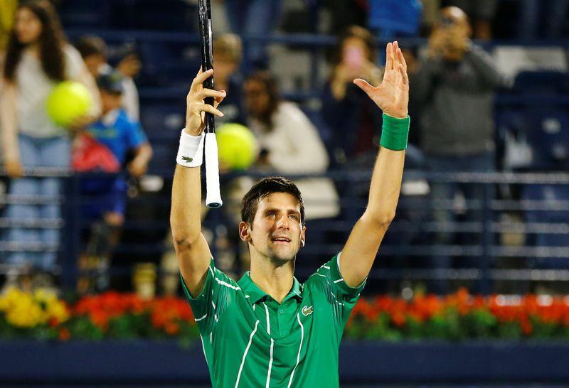 Djokovic saves three match points to set up Dubai final with Tsitsipas
