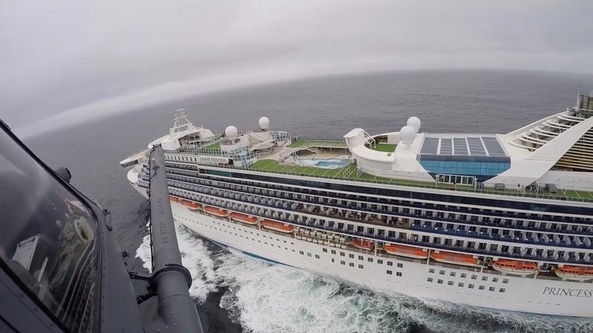 Coronavirus test kits flown to cruise ship idled off San Francisco