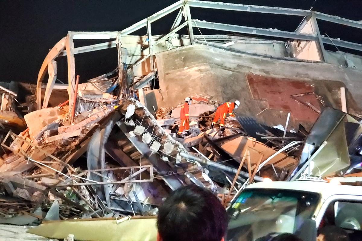 Seventy trapped after Chinese coronavirus quarantine hotel collapses, more than half rescued