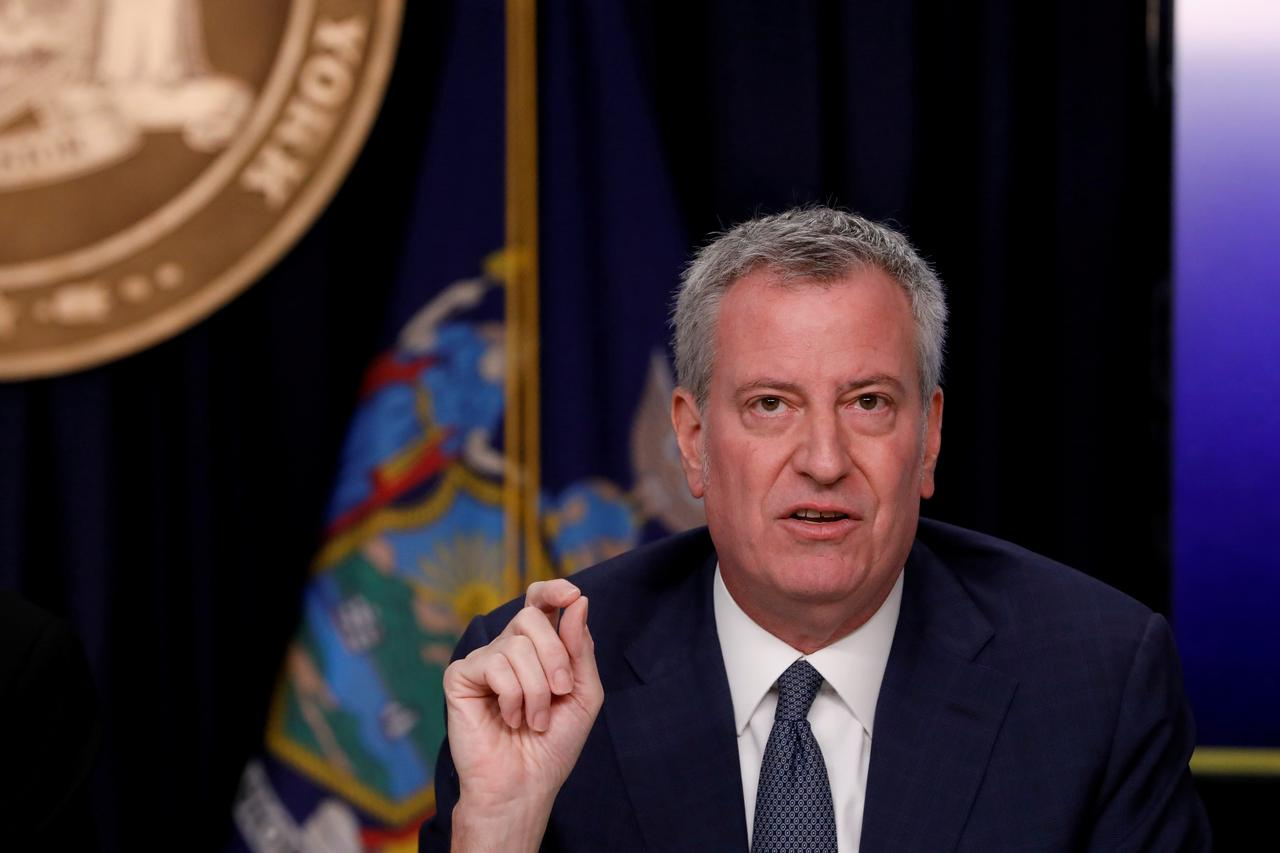 New York Mayor de Blasio Says Public School Employees Must Be At Least Partially Vaccinated by October 1