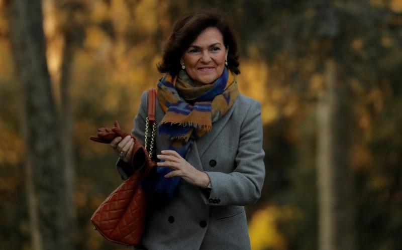 Spain's deputy PM Carmen Calvo hospitalized with respiratory infection