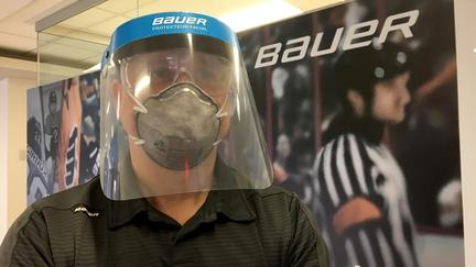 Hockey visors into face shields: Hockey gear maker tweaks equipment for health workers