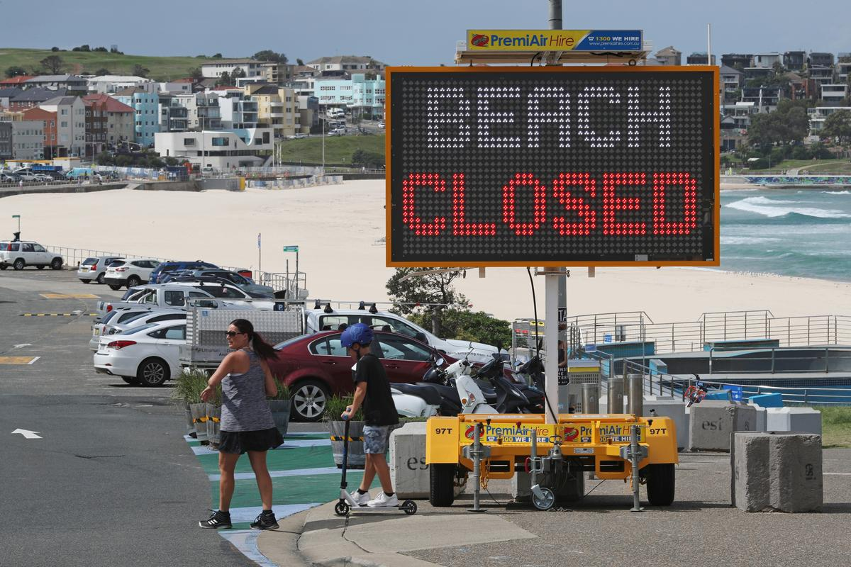 Australia opens pop-up coronavirus test clinic at Bondi Beach