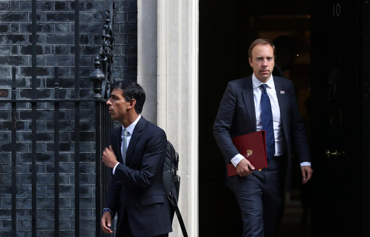 British health minister denies clash with finance chief over lockdown strategy