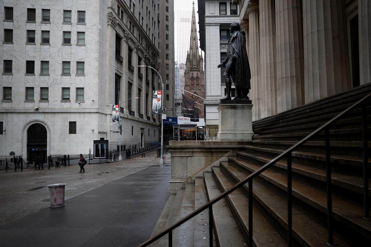 Wall Street gains on signs of coronavirus slowdown