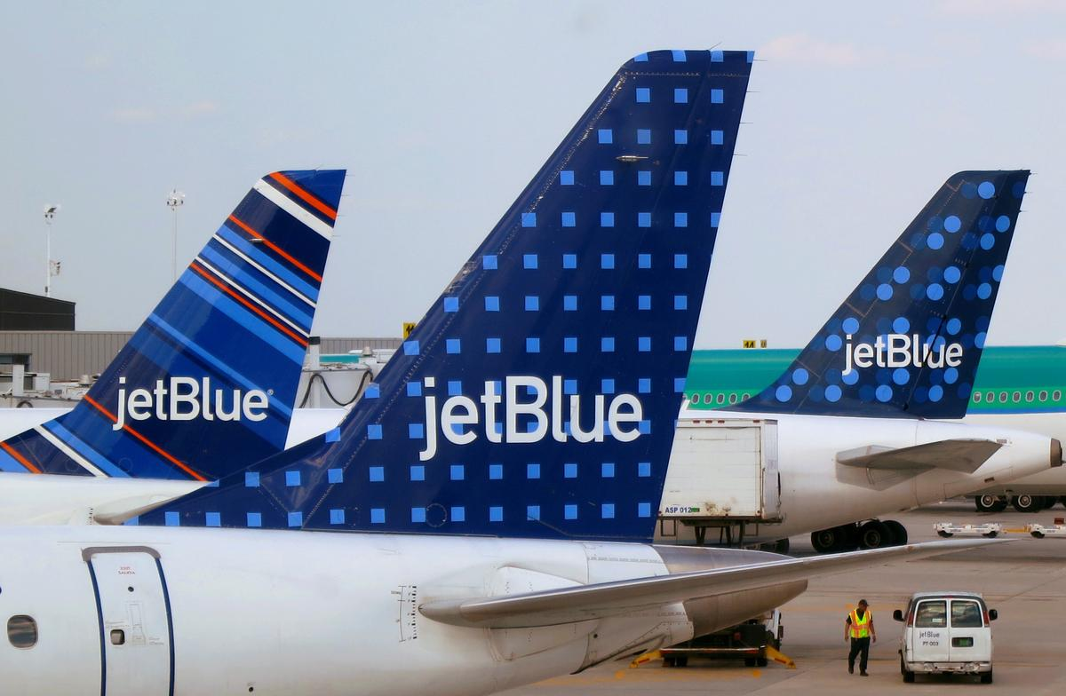 JetBlue seeks government permission to suspend flying at some airports as demand drops