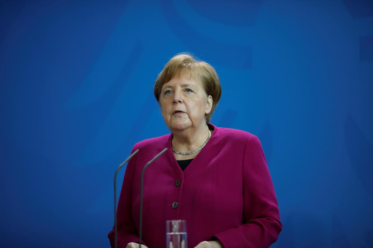 German coronavirus curve gives reason for cautious hope: Merkel