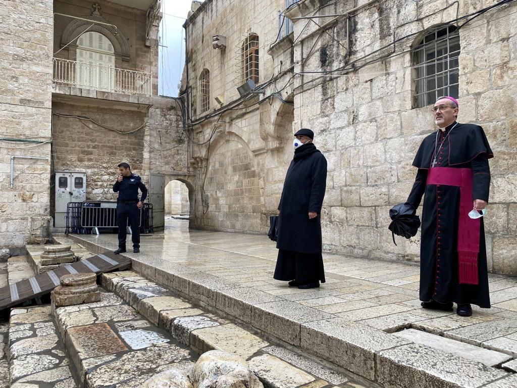 On an empty Via Dolorosa, archbishop urges Good Friday prayer for the dying