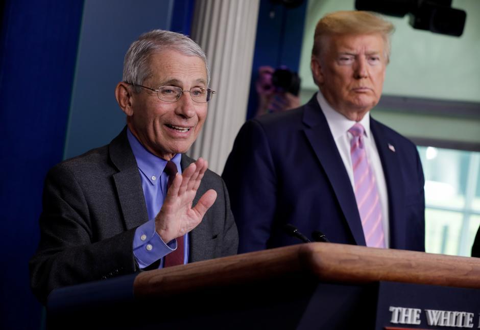 Trump defends response to coronavirus, says he's not firing Fauci ...
