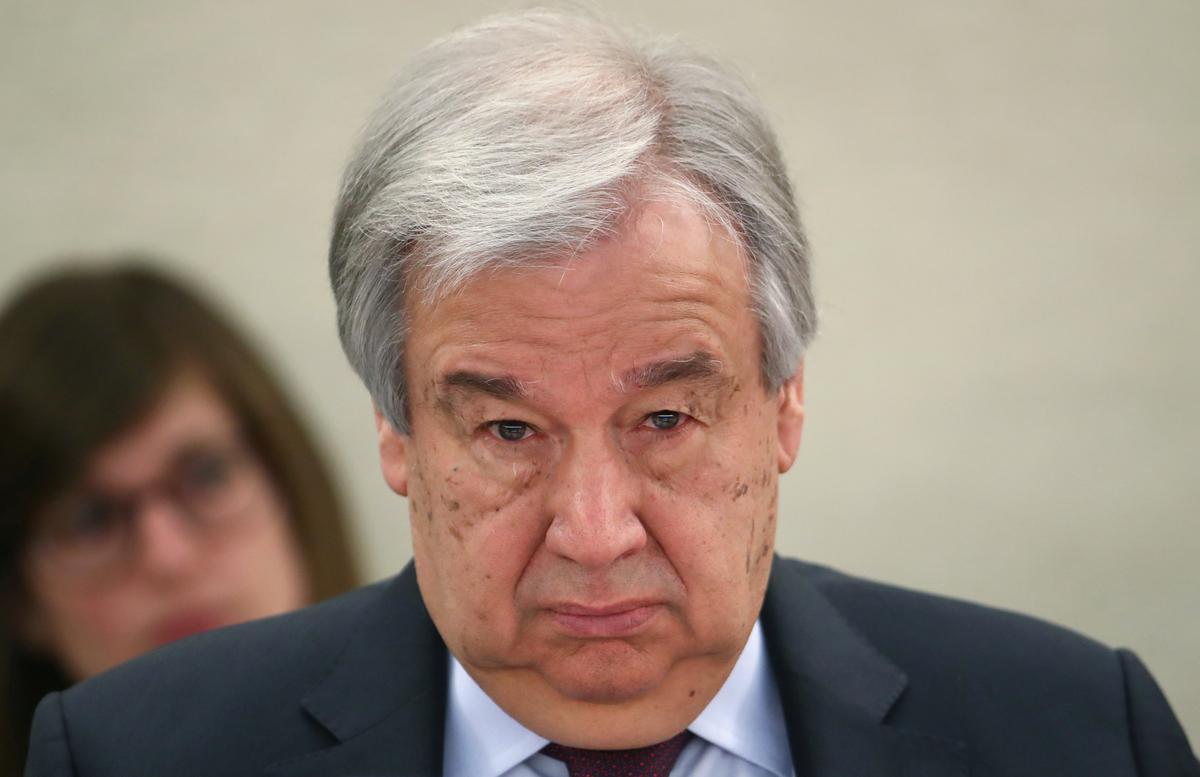 U.N. chief warns against repressive measures amid coronavirus crisis