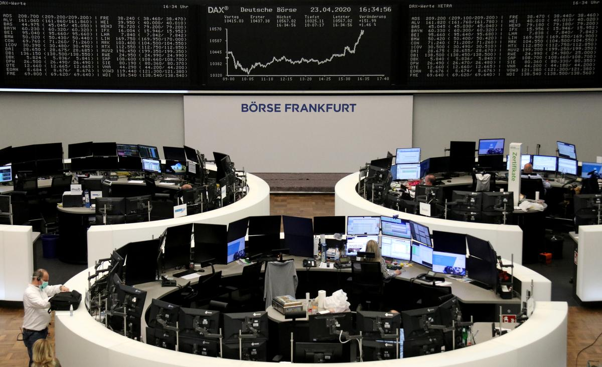 Stocks fall on worries over EU stimulus details, coronavirus drug