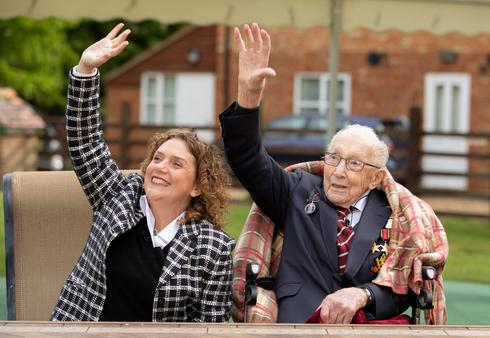 Britain hails 'Captain Tom' on 100th birthday