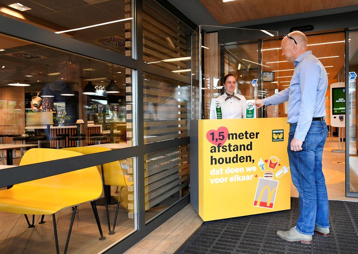 Big Mac at a distance: Dutch McDonald's trials virus-proof restaurant