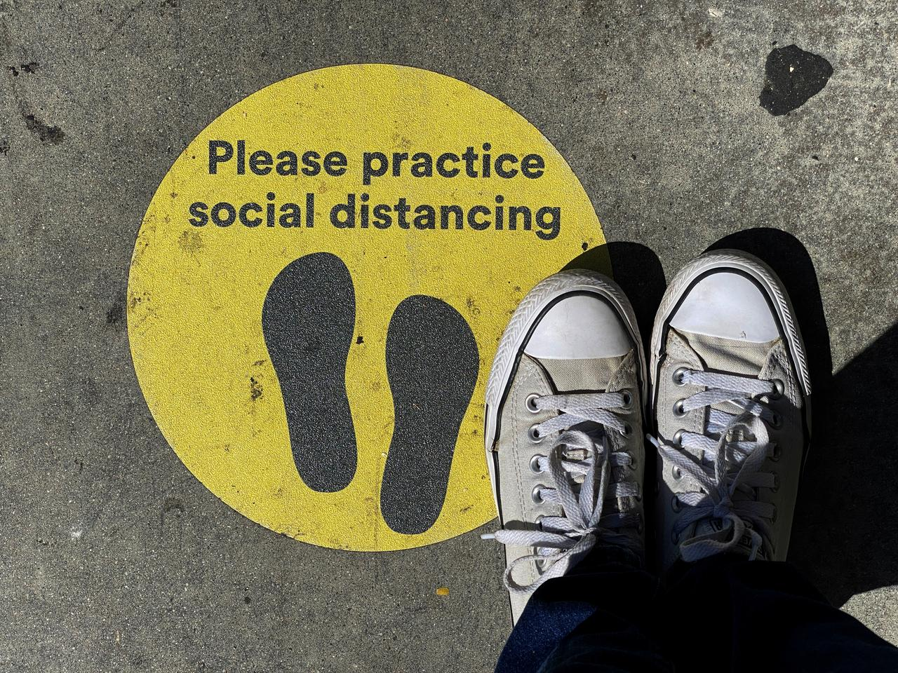 Social Distancing Signs Around The World Show The New Normal Reuters