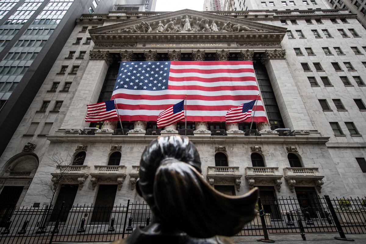 Wall Street ends up after swings on reopening hopes, weak data, trade woes