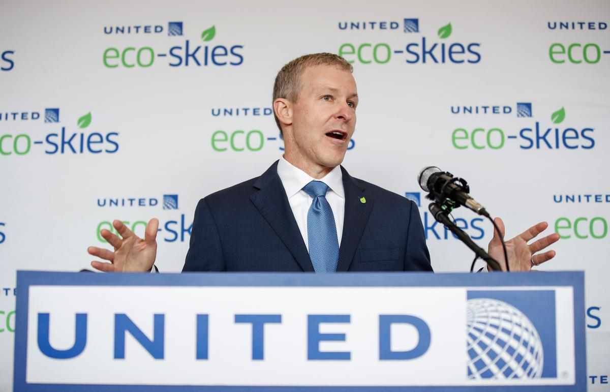 United Airlines CEO Kirby's annual base salary lower than predecessor