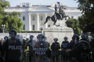 Protests outside White House over George Floyd's death