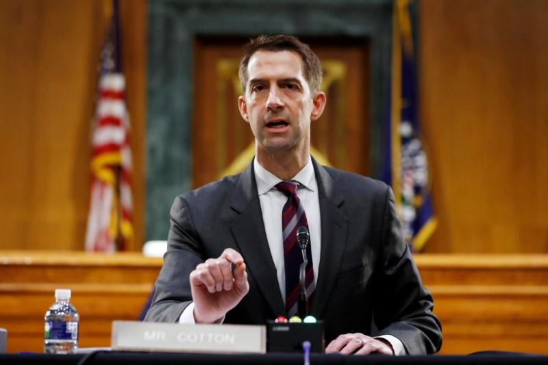 Sen. Tom Cotton Calls Slavery 'the Necessary Evil Upon Which the Union Was Built' as He Opposes New York Times' 1619 Project