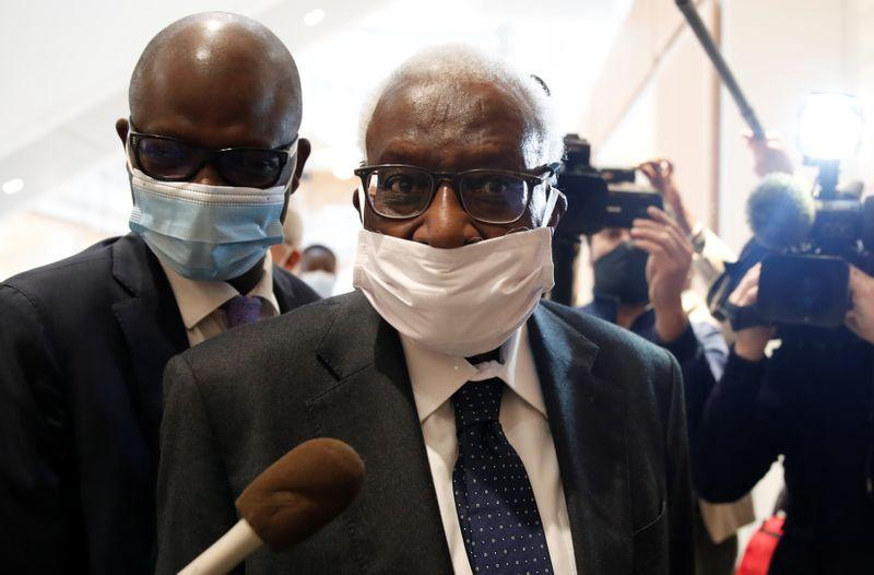Former athletics chief Diack in French court for corruption trial
