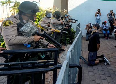 Protests against police brutality sweep across America