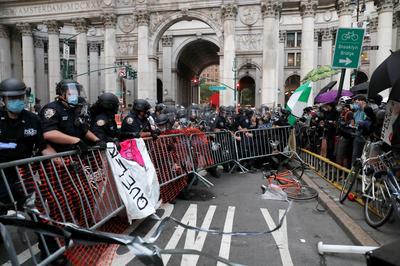 Inside New York's autonomous protest zone
