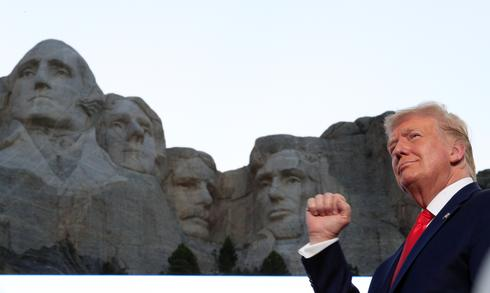 Trump visits Mount Rushmore