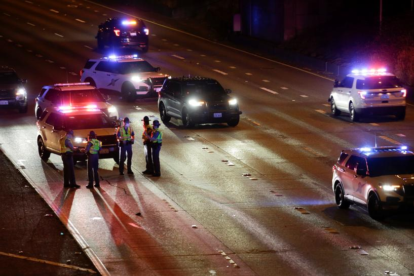reuters.com - Reuters Editorial - Two Seattle protesters hit by car on highway, one critically injured