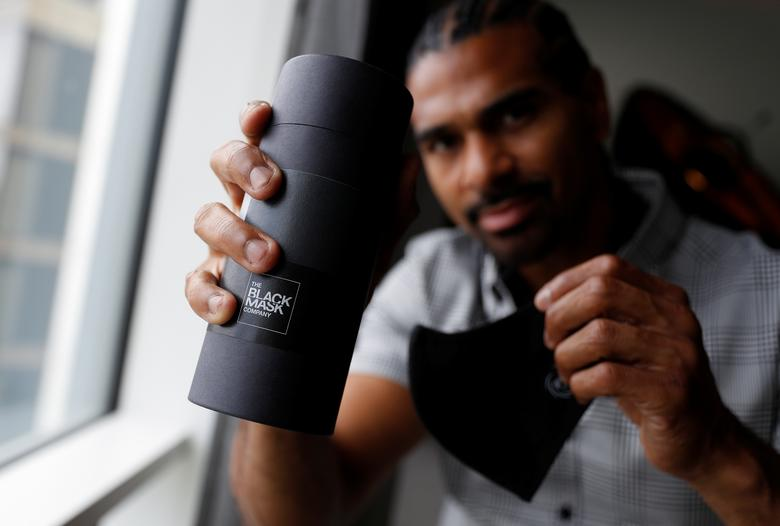 Guarding The Face Ex Boxer Haye Launches Mask To Fight Covid 19 Reuters Com