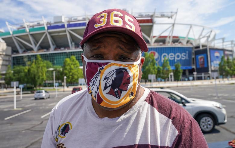 Washington Redskins fan Rodney Johnson, who said he was