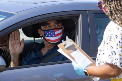 Drive-through U.S. citizenship ceremony amid coronavirus