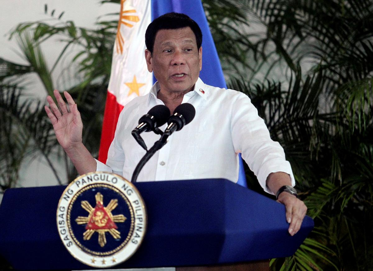 Philippines' Duterte recommends petrol to clean face masks, says 'not joking'