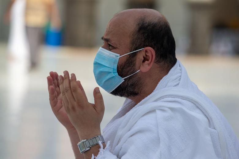 A Muslim pilgrim prays at the Grand Mosque during the annual Haj pilgrimage in the holy city of Mecca, Saudi Arabia July 31, <span dir=