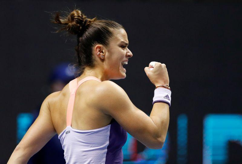 Greek Sakkari was ready to swap racket for track spikes