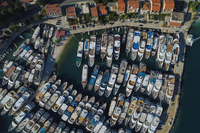 Small luxury yachts are seen in Krilo Jesenice marina, following the outbreak of the coronavirus disease (COVID-19), Croatia, May 25, 2020. Picture taken May 25, 2020. REUTERS/Antonio Bronic