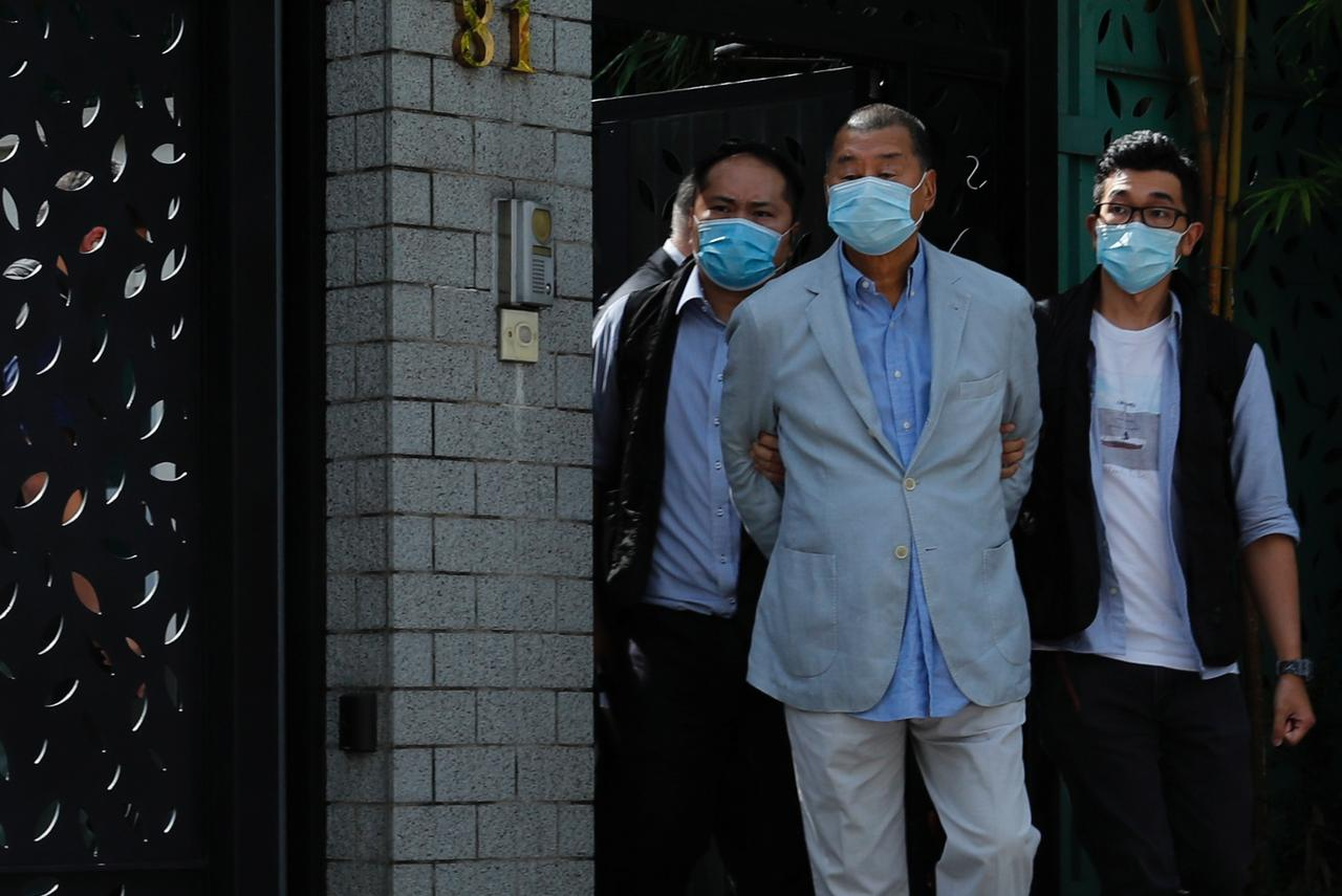 Hong Kong tycoon Jimmy Lai arrested under security law, bearing ...