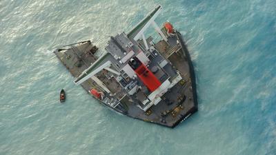 Japanese ship involved in Mauritius oil spill breaks apart