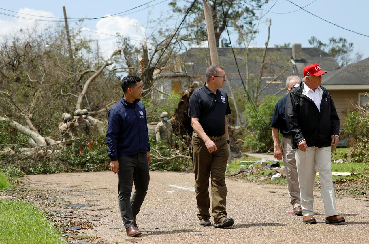 President Trump Tours Louisiana City hit by Hurricane Laura, says state 'rebuilds fast'