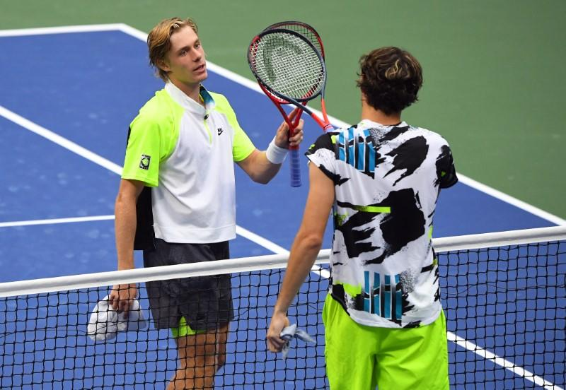 Shapovalov wins battle of young guns to reach U.S. Open last 16 - Reuters