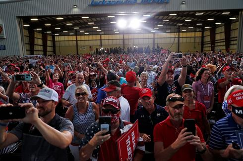 Trump supporters, many maskless, jam campaign rallies