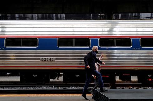 Joe Biden's whistle-stop train tour to battleground states