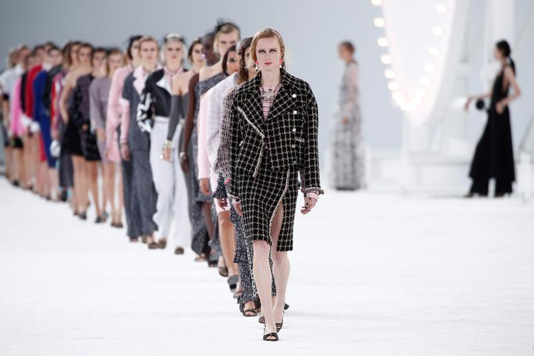 Models present creations by designer Virginie Viard as part of her Spring/Summer 2021 ready-to-wear collection show for Chanel during Paris Fashion Week in Paris, France, October 6, 2020. REUTERS/Benoit Tessier